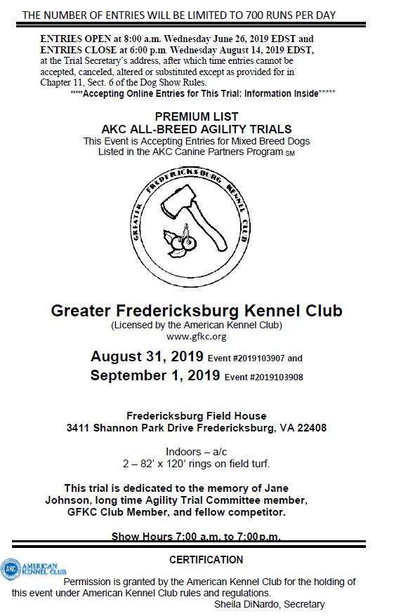 Home - Greater Fredericksburg Kennel Club